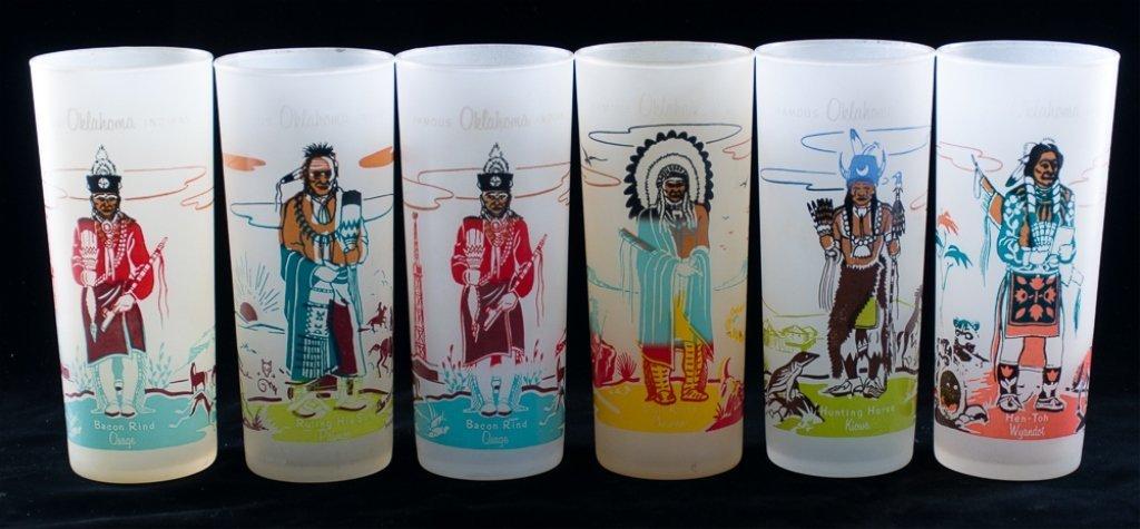Blue Eagle Famous Oklahoma Indians Glassware, 19 - 2