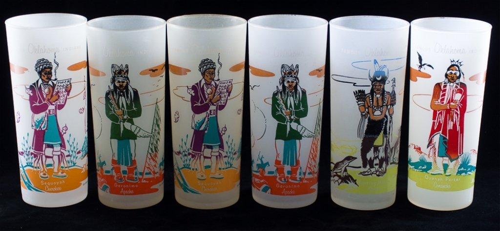 Blue Eagle Famous Oklahoma Indians Glassware, 19 - 3