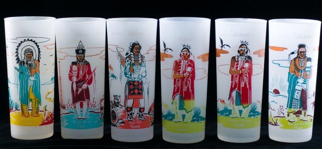 Blue Eagle Famous Oklahoma Indians Glassware, 19 - 4