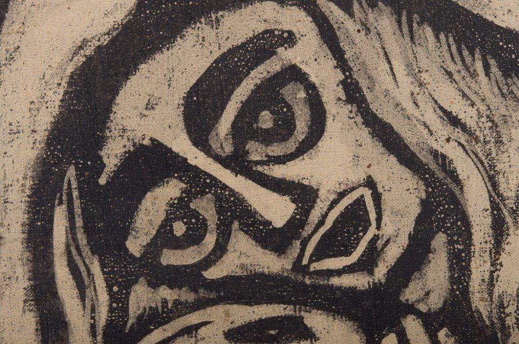 "Raimundo de Oliveira ""Pieta"" Oil on Canvas - 10"