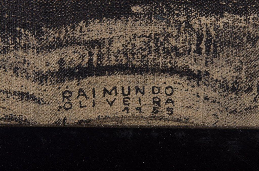 "Raimundo de Oliveira ""Pieta"" Oil on Canvas - 9"