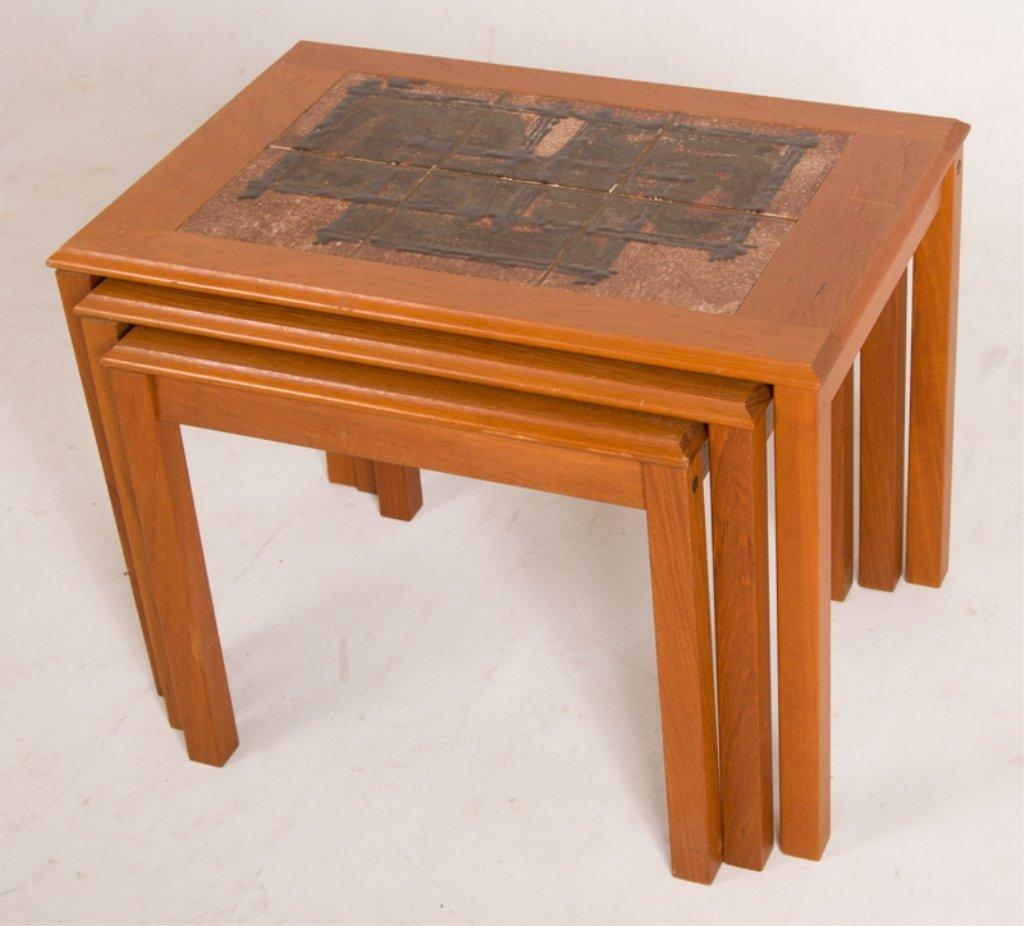 Trioh Danish Nesting Tables, Three (3)