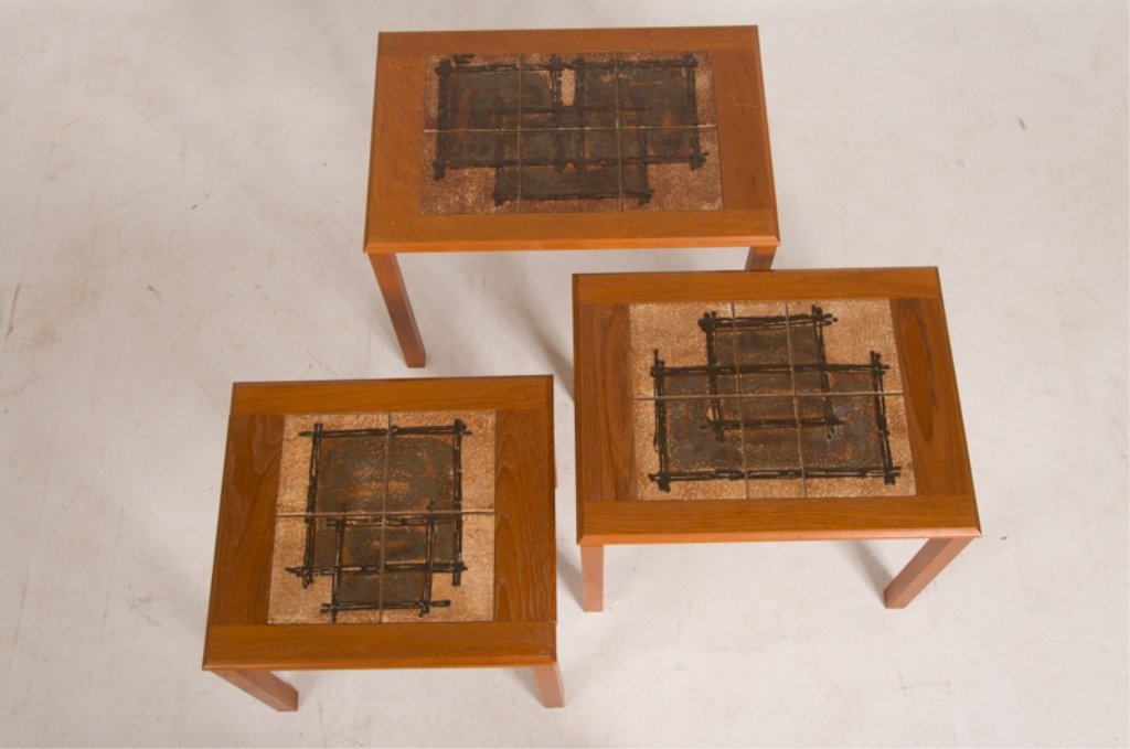 Trioh Danish Nesting Tables, Three (3) - 2