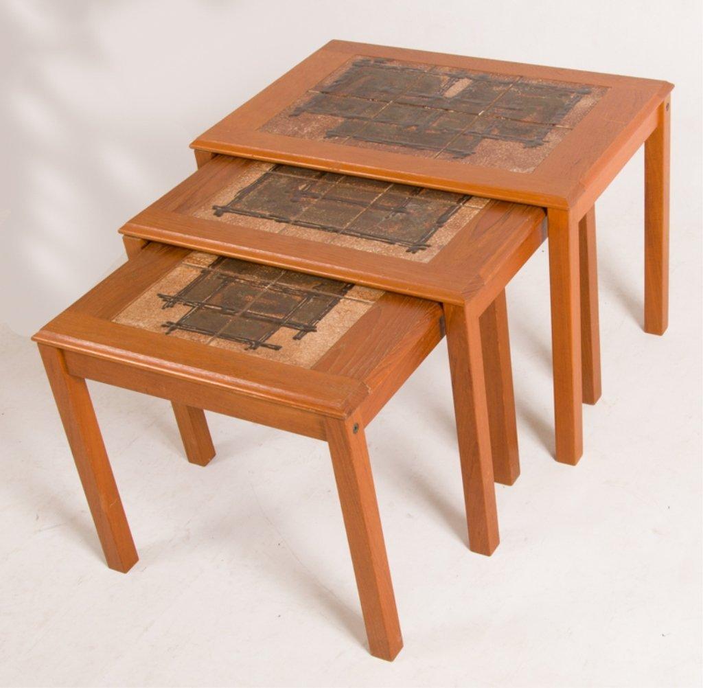 Trioh Danish Nesting Tables, Three (3) - 3