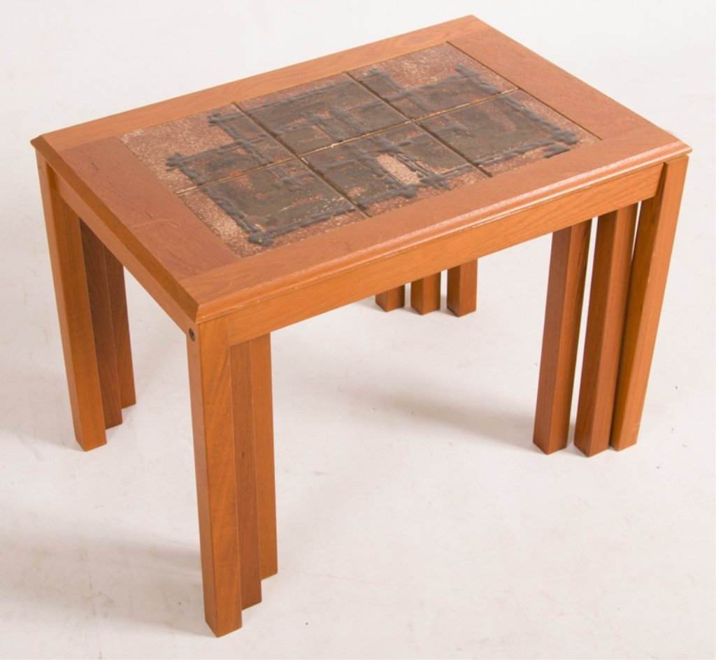 Trioh Danish Nesting Tables, Three (3) - 4