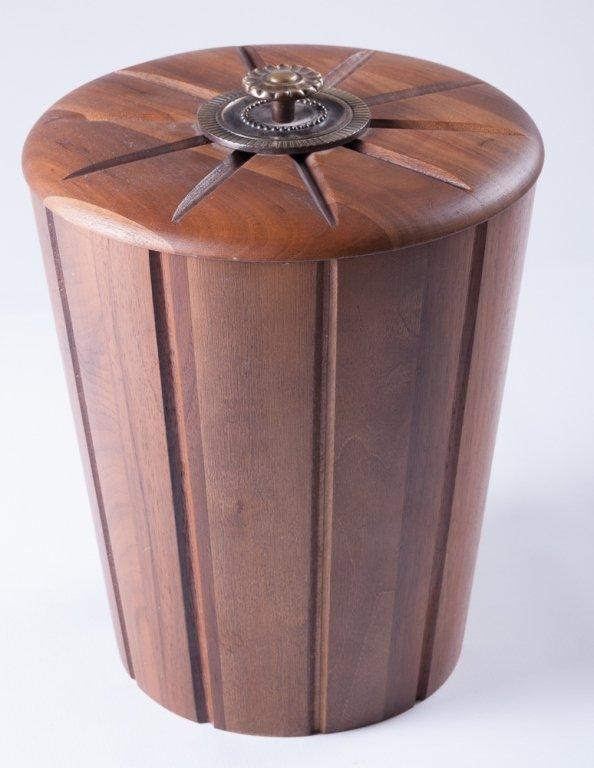 Vermillion Walnut Ice Bucket
