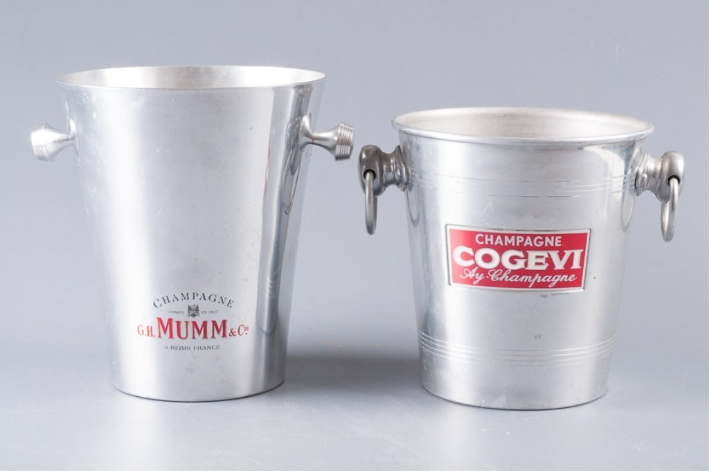 Aluminum Champagne Ice Bucket Coolers, Two (2)