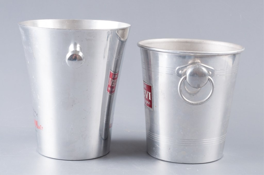 Aluminum Champagne Ice Bucket Coolers, Two (2) - 2