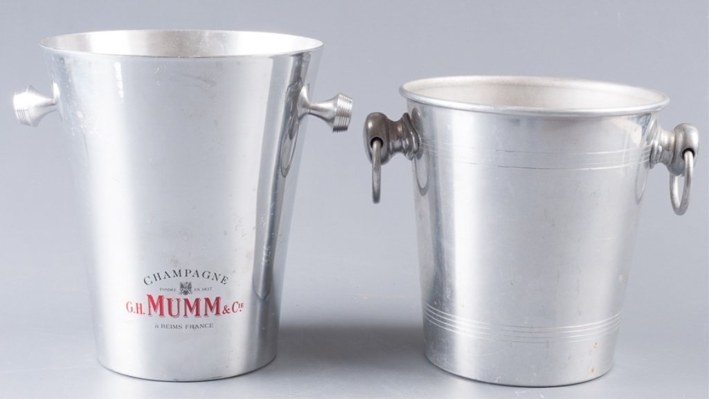 Aluminum Champagne Ice Bucket Coolers, Two (2) - 3