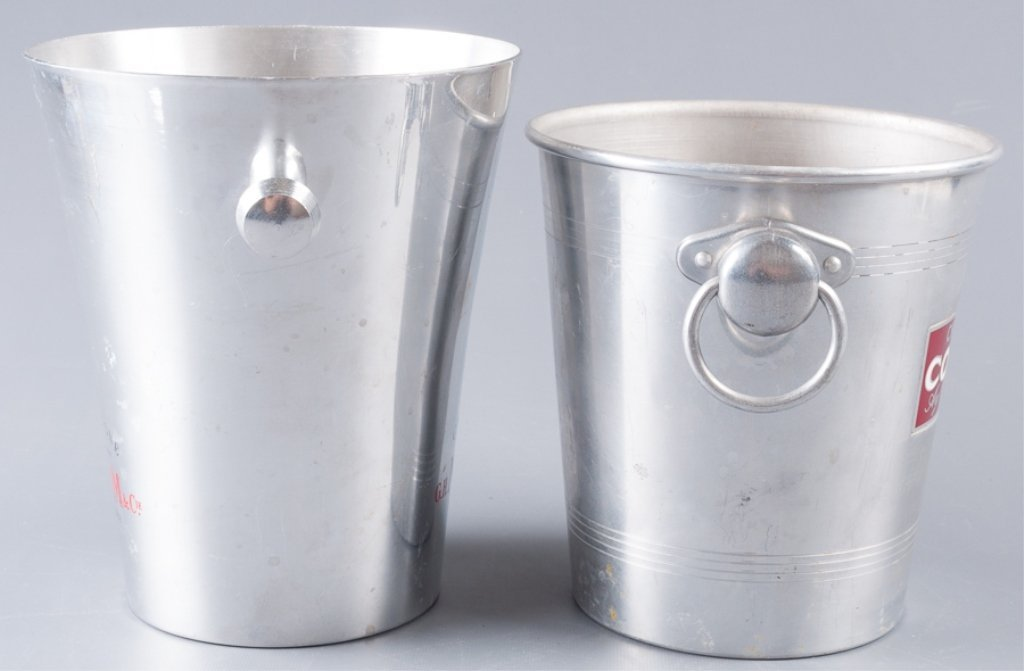 Aluminum Champagne Ice Bucket Coolers, Two (2) - 4