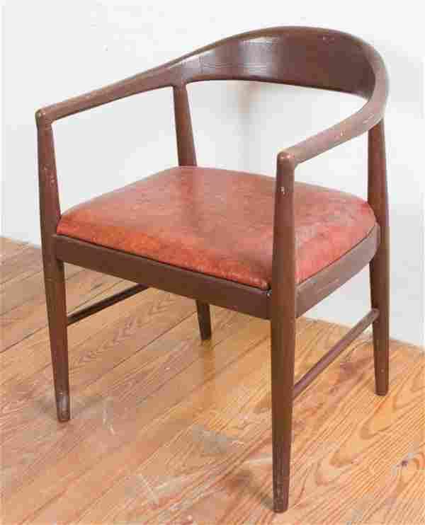 Vinyl Upholstered Club Chair