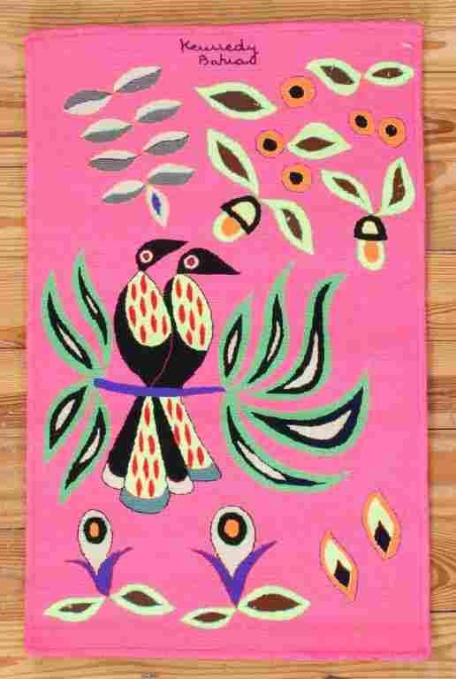 """Kennedy Bahia Needlepoint Tapestry, """"Tucano"""""""