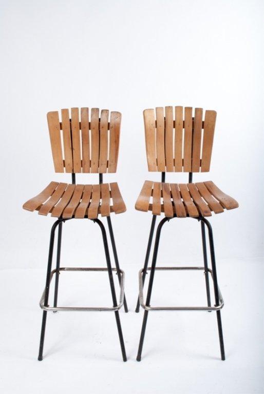 Umanoff Swivel Bar Chairs, Pair