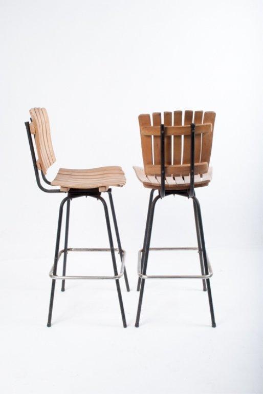 Umanoff Swivel Bar Chairs, Pair - 2