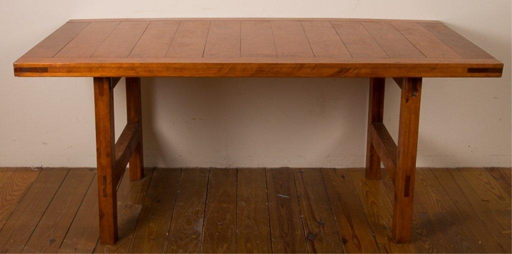 Farm Style Oak Dining Table