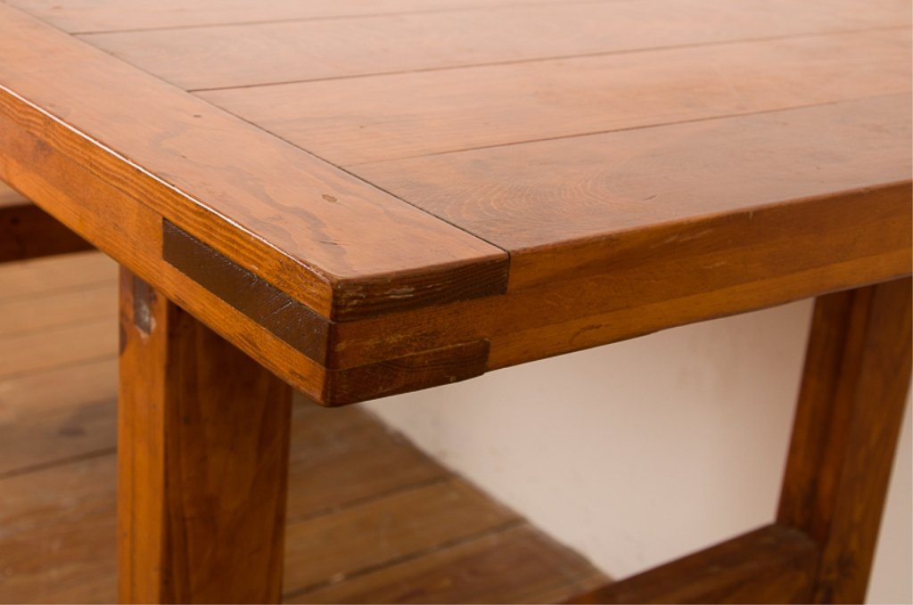 Farm Style Oak Dining Table - 2