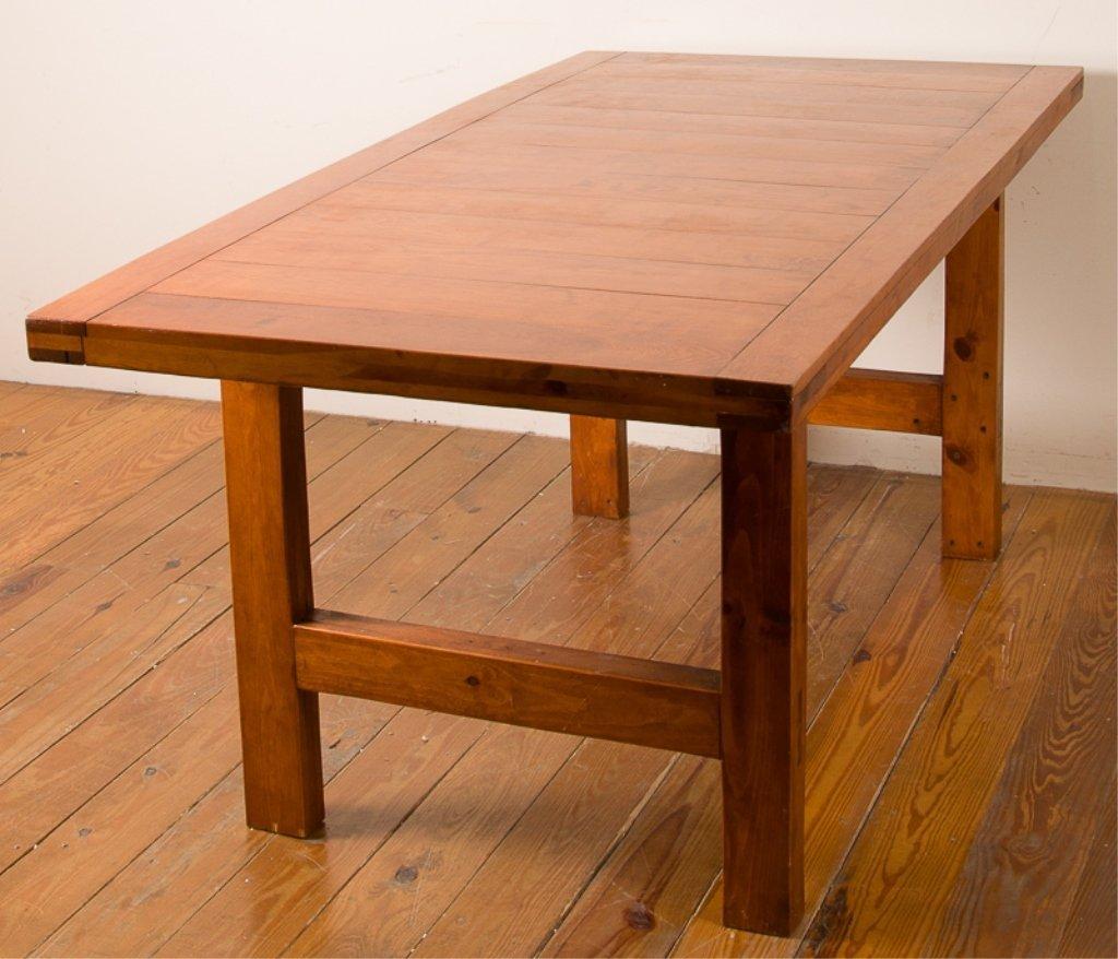 Farm Style Oak Dining Table - 3