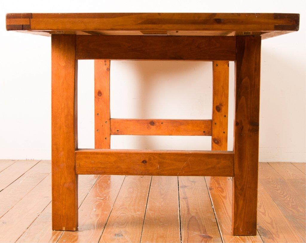 Farm Style Oak Dining Table - 4