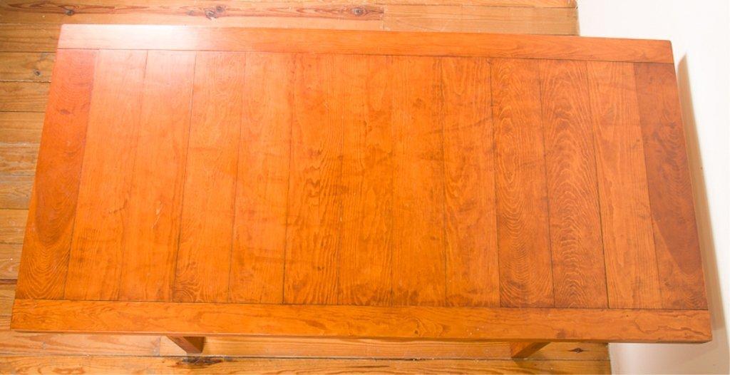 Farm Style Oak Dining Table - 5