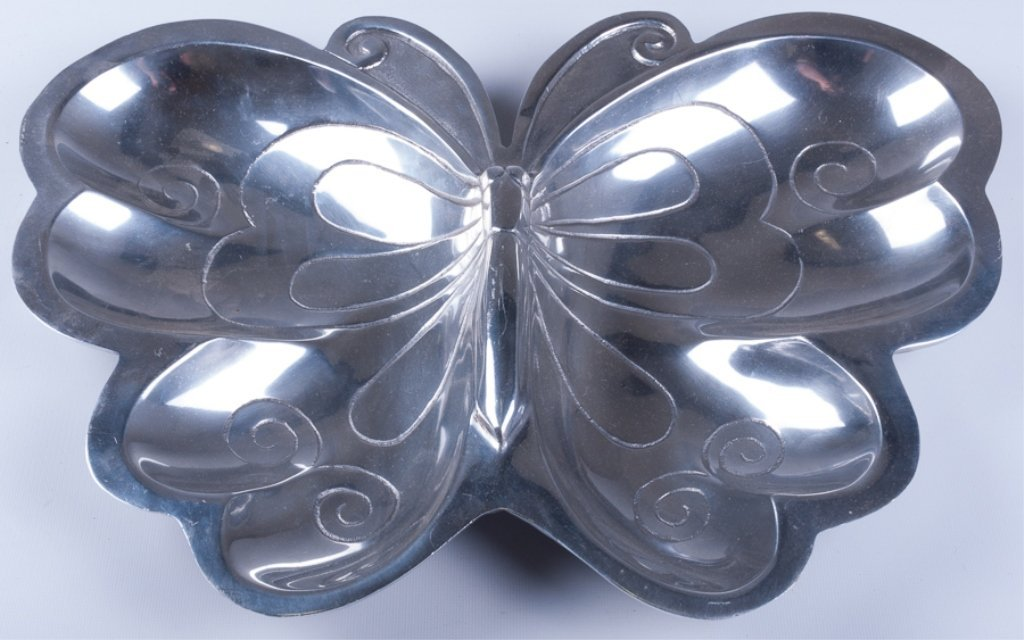 Vintage Aluminum Butterfly Tray - 2