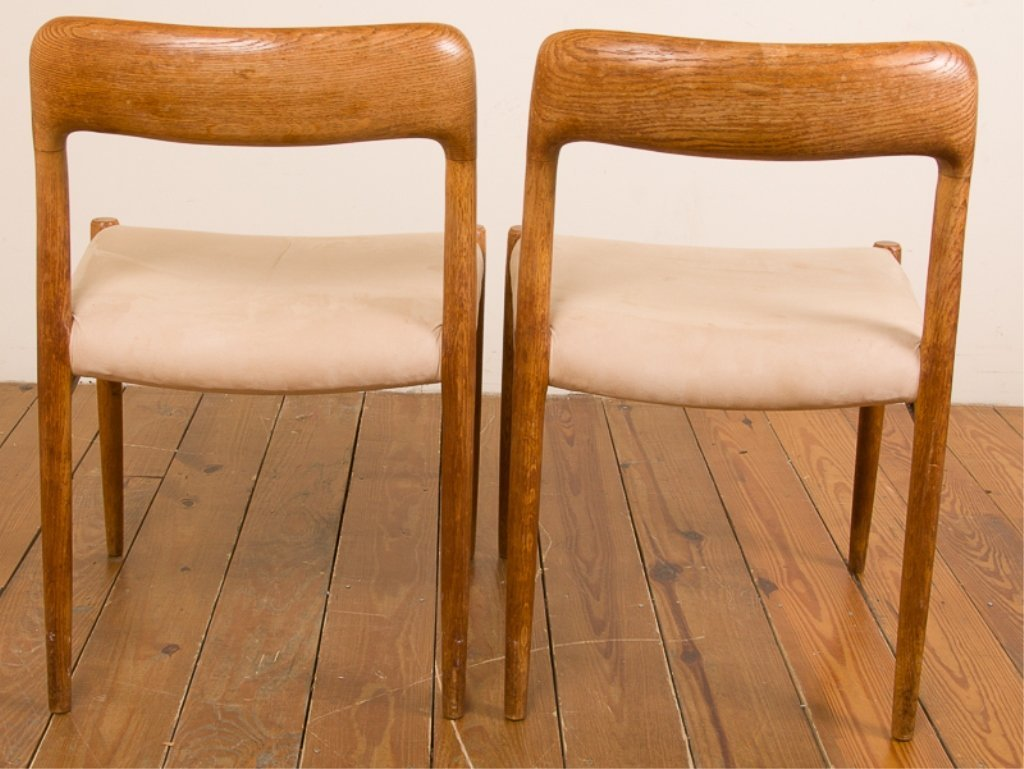 Teak & Upholstery Dining Chairs, Six (6) - 7