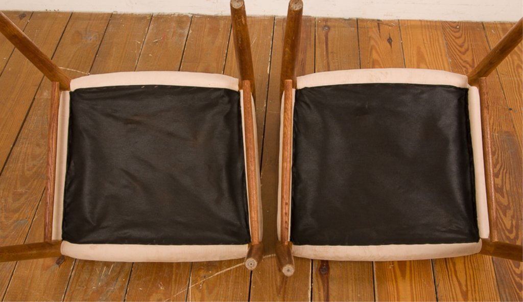 Teak & Upholstery Dining Chairs, Six (6) - 9