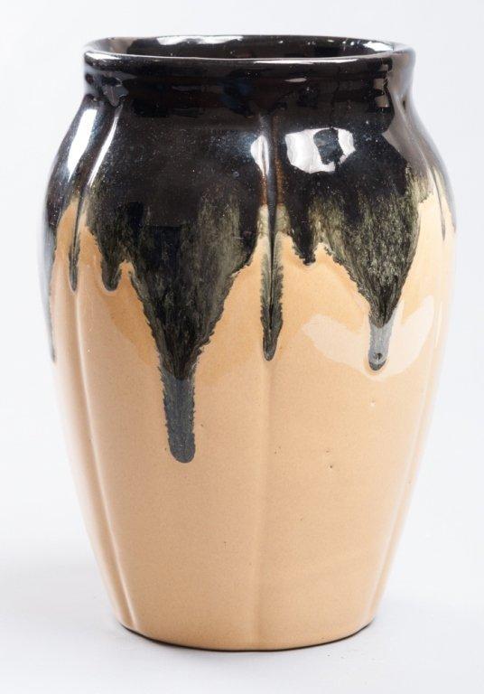 Decorative Glazed Pottery Vase - 4