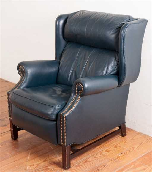 Motioncraft Leather Recliner By Sherrill See Sold Price