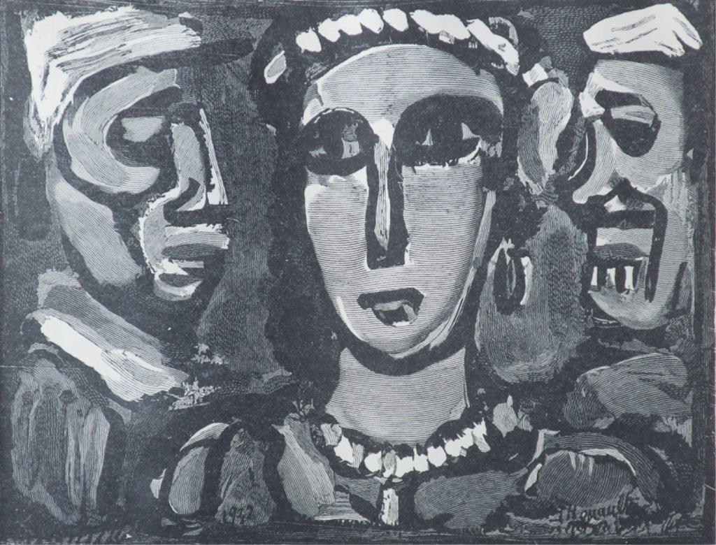 """Georges Rouault """"Les Visages"""" Engraving"""
