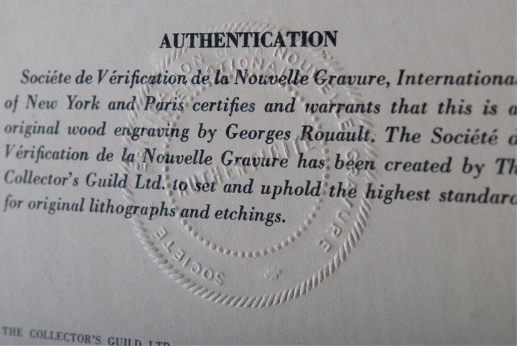 """Georges Rouault """"Les Visages"""" Engraving - 2"""