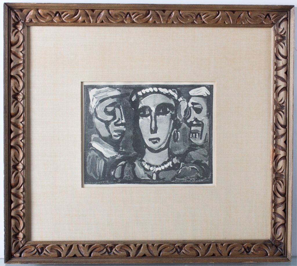 """Georges Rouault """"Les Visages"""" Engraving - 3"""