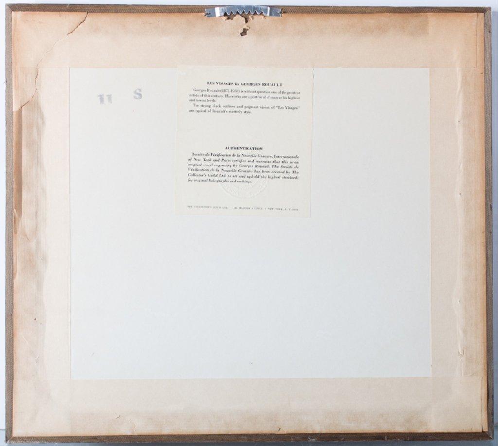"""Georges Rouault """"Les Visages"""" Engraving - 4"""
