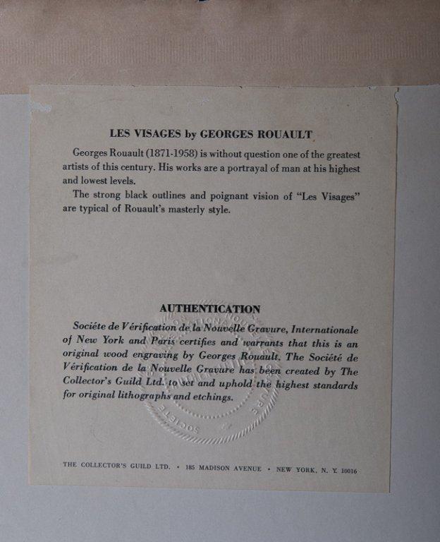 """Georges Rouault """"Les Visages"""" Engraving - 7"""