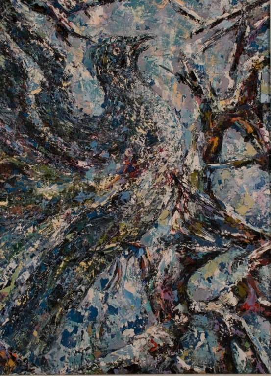 A. Petrikonis Oil on Board Abstract