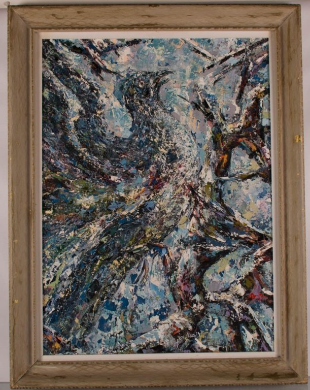 A. Petrikonis Oil on Board Abstract - 2