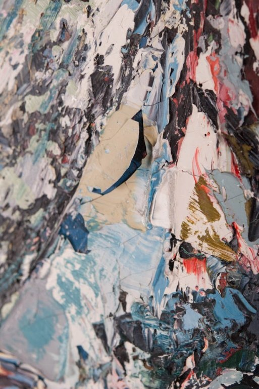 A. Petrikonis Oil on Board Abstract - 5