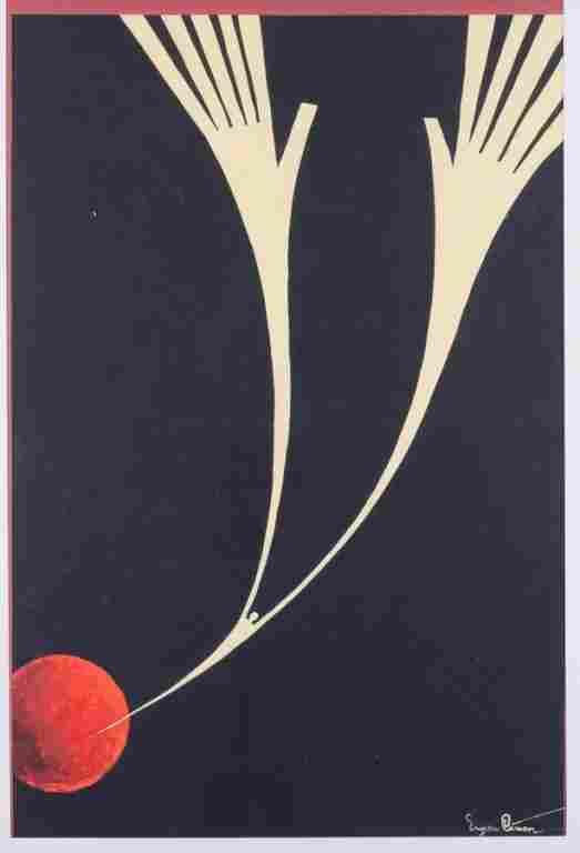"""Eugen Ciuca Abstract Watercolor """"Alarme"""""""