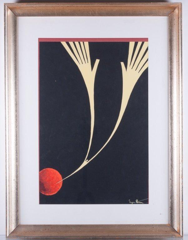 """Eugen Ciuca Abstract Watercolor """"Alarme"""" - 2"""