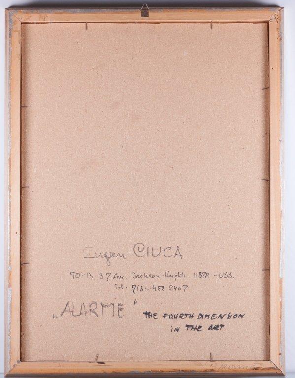 """Eugen Ciuca Abstract Watercolor """"Alarme"""" - 3"""