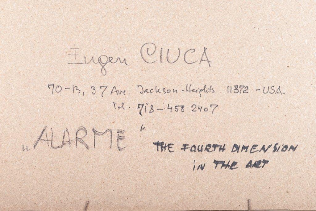 """Eugen Ciuca Abstract Watercolor """"Alarme"""" - 5"""