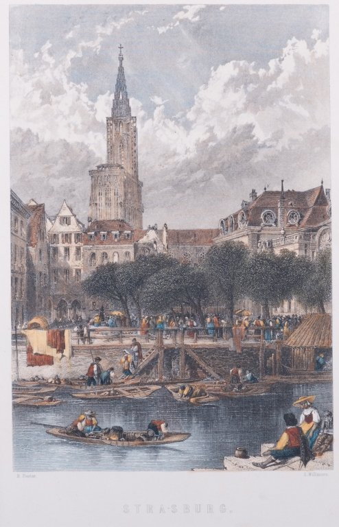 Strasburg Hand-Colored Engraving