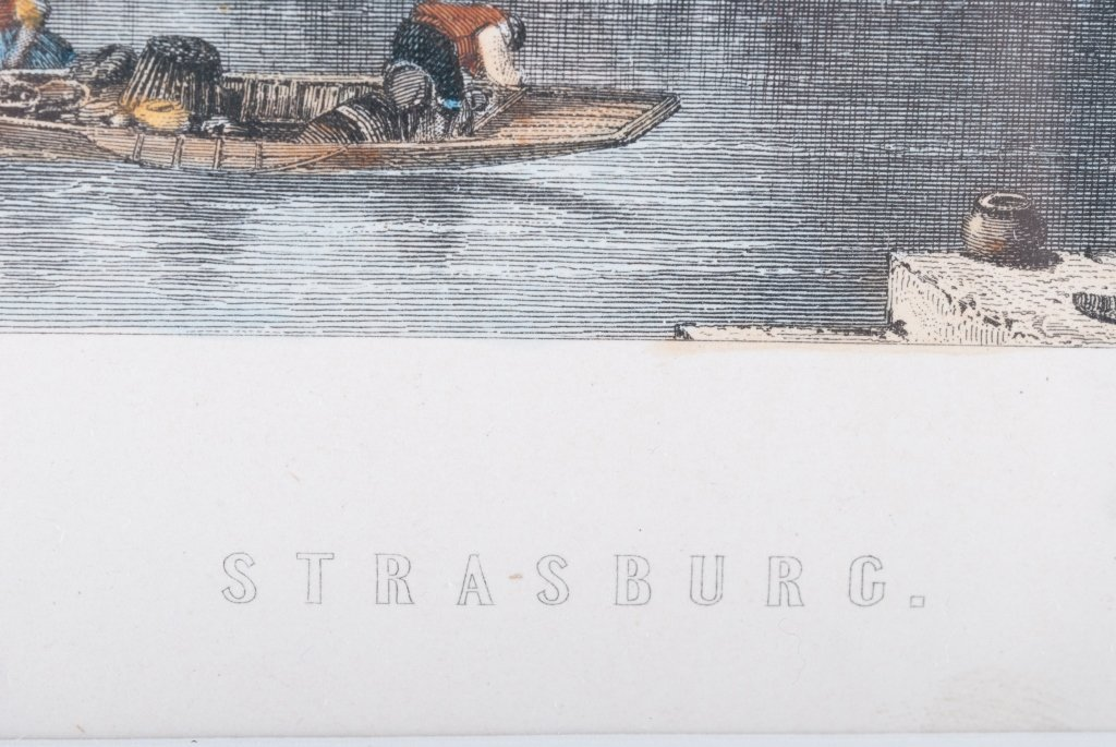 Strasburg Hand-Colored Engraving - 5