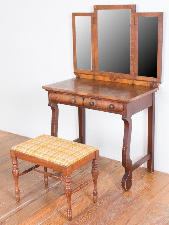 Empire Style Dressing Table & Bench