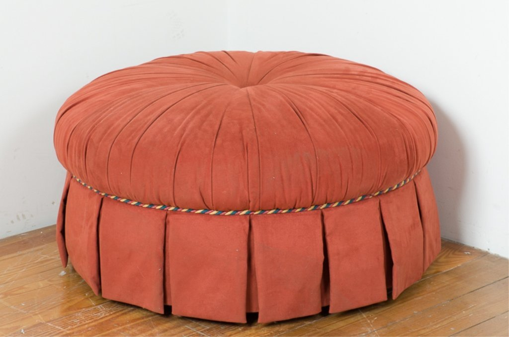 Round Upholstered Ottoman