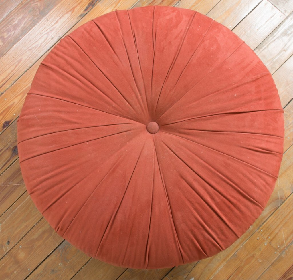 Round Upholstered Ottoman - 2