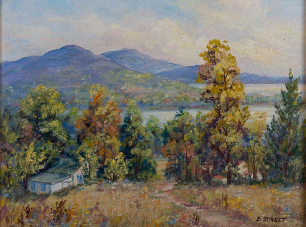 Elizabeth Street Oil on Canvas-Board