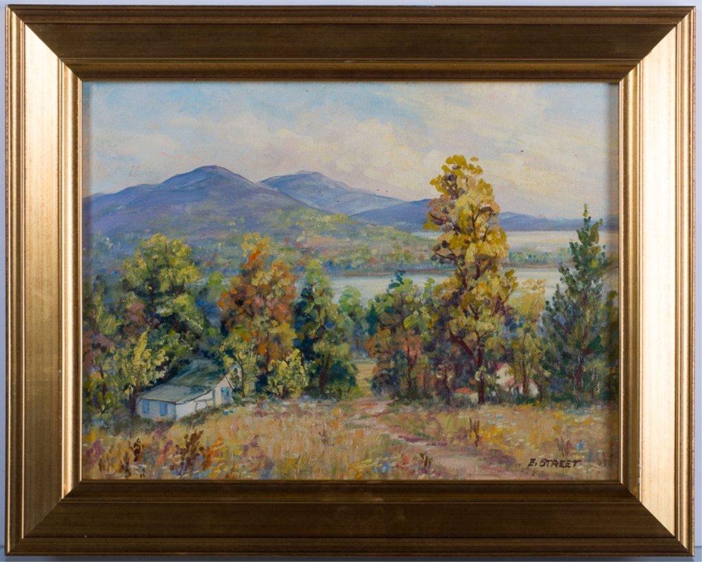 Elizabeth Street Oil on Canvas-Board - 2