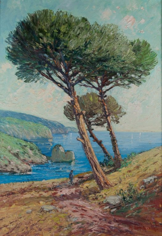 Palette Knife Oil on Canvas Seascape