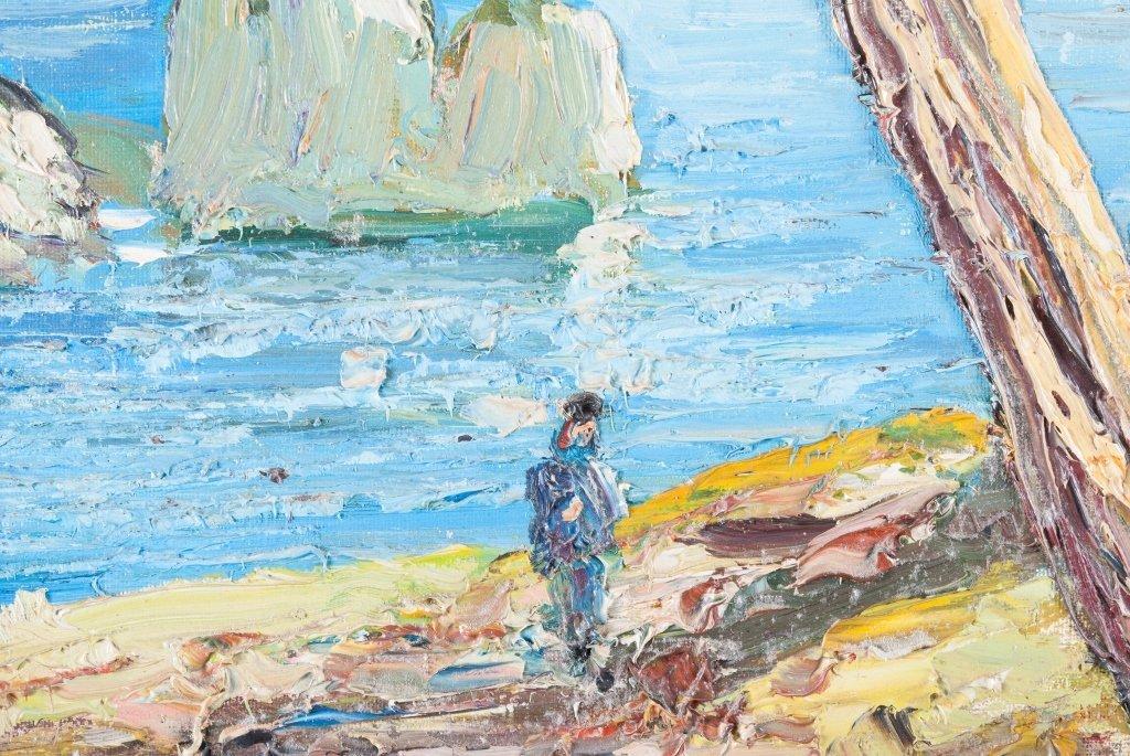 Palette Knife Oil on Canvas Seascape - 4