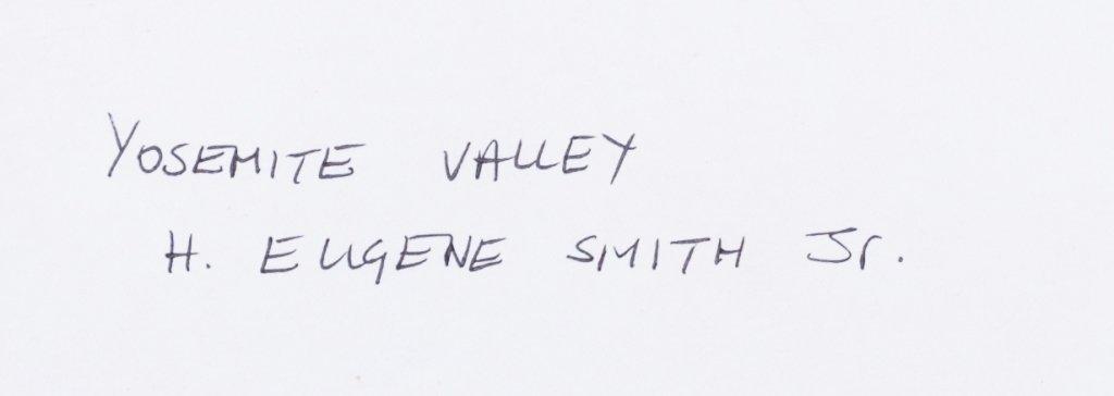 H. Eugene Smith Jr. Yosemite Photos, Three (3) - 8